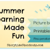 Summer and Camping Theme Picture Books and Printables for Young Children