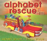 Learning letter activities, games, printables, and alphabet picture books including Alphabet Rescue