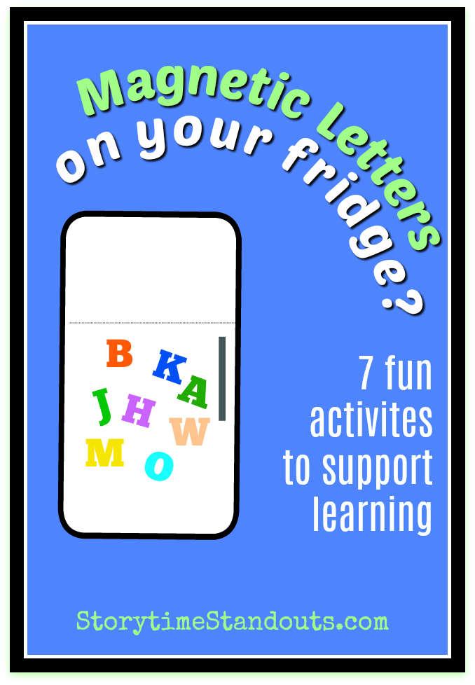 Activities for learning with magnetic letters, great for homeschool and preschool