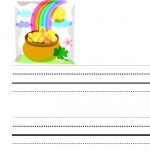 image of St. Patrick's Day writing paper for kids