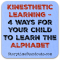 Kinesthetic Learning - 4 Ways for Your Child to Learn the Alphabet