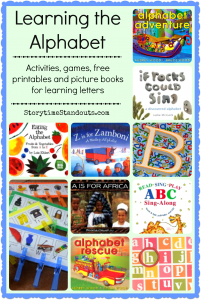 Learning letter activities, games, printables, and alphabet picture books