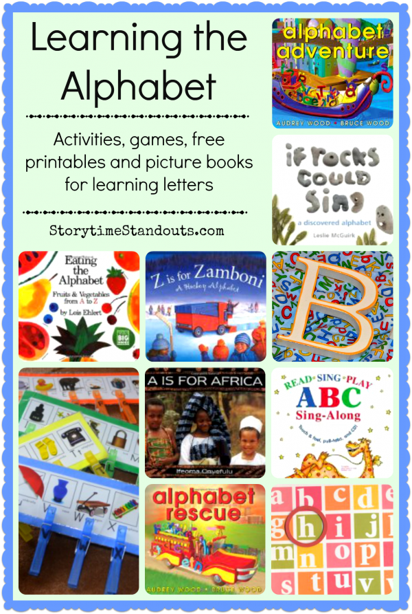 Teach children the alphabet with learning letter activities, games, printables, and alphabet picture books