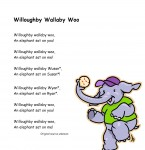 Rhymes and chants to promote phonemic awareness including Willoughby Walaby Woo