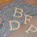 A tactile activity for teaching letters of the alphabet