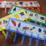 One of our most popular prereading games, Clothespin Letter Match