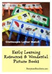 Clothespin Letter Match is an easy-to-make alphabet matching activity from Storytime Standouts