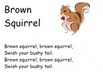 Brown Squirrel Chant for Preschool, Homeschool and Kindergarten