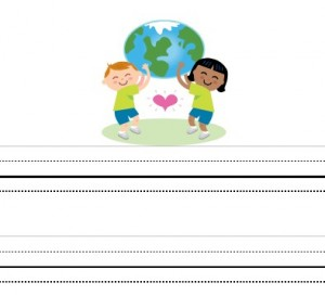 image of an Earth Day printable for children