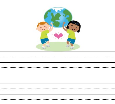 writing paper for kids printable interlined kindergarten paper image of green writing paper for kids