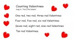 Free Valentine's Day chant for preschool, Counting Valentines