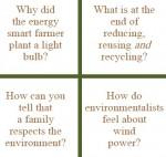 Free printable green-theme riddles