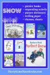Snow and Snowmen Theme Early Learning Printables for preschool, kindergarten and primary grades from Storytime Standouts