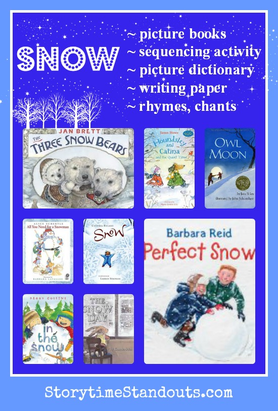 Storytime Standouts - Snow and Snowmen for Preschool, Kindergarten and Grade School