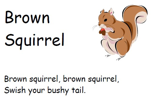image of a squirrel circle time printable