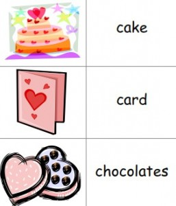 Valentine's Day printables picture dictionary for children