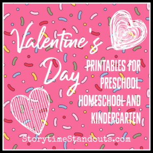 Storytime Standouts offered printables for Valentine's Day