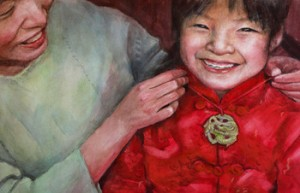 image from the Chinese New Year picture book, A Gift