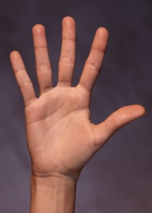 image of an outstretched hand