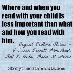 Storytime Standouts answers ten questions about reading aloud to children