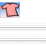 image of Pink Shirt Day writing paper