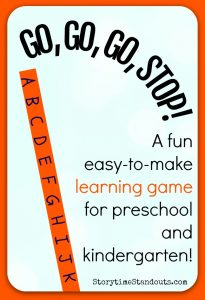 An Easy to Make Alphabet Learning Game for Preschool and Kindergarten