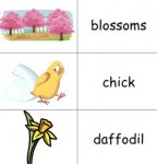 image of a Spring Picture Dictionary printable for children