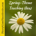 Spring Theme writing prompts and wordplay for kindergarten, early primary and homeschool.