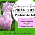 Enjoy our Free Spring Theme Printables for Kids