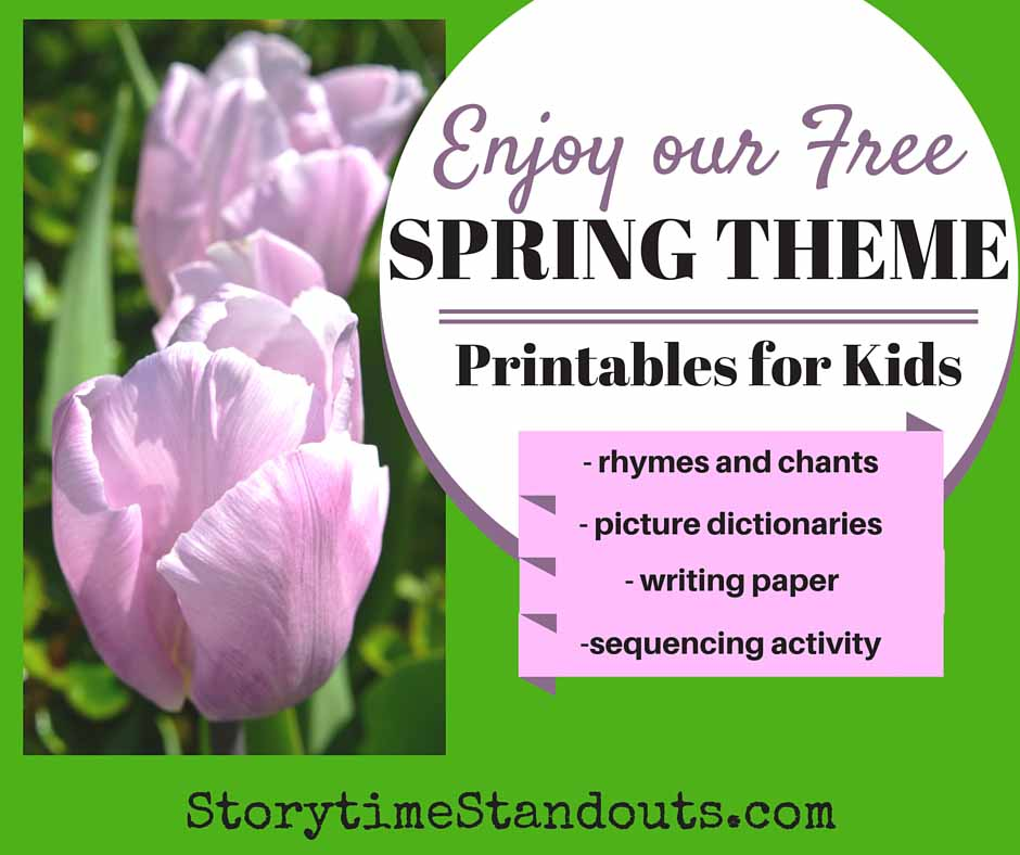 spring theme printables for preschool and kindergarten
