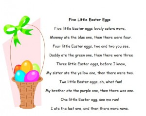 Free printable Five Little Easter Eggs for preschool