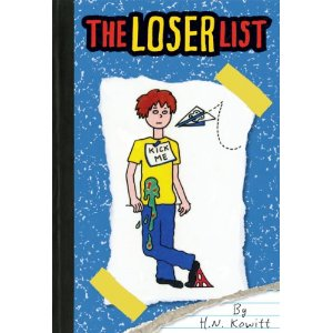 cover art for anti bullying chapter book The Loser List