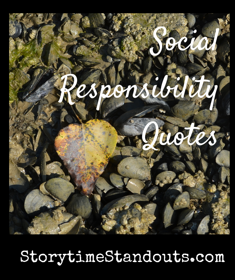 Social Responsibility Quotes Compiled by StorytimeStandouts.com