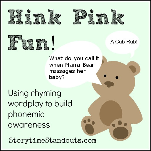 Hink Pink Wordplay to support phonemic awareness