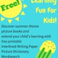 Summertime Learning Fun for Kids from StorytimeStandouts.com
