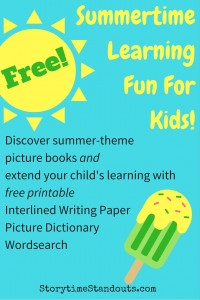 Summertime Learning Fun for Kids from StorytimeStandouts.com including summer, camping and beach theme picture books