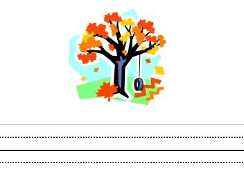 Fall with tire Swing