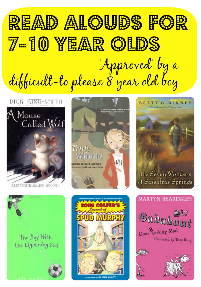 Great books to read  alouds to 7-10 Year Olds