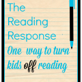 Asking students to write reading responses may not have the desired affect