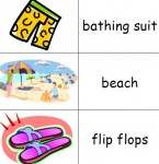 Beach theme picture dictionary for kindergarten and ESL