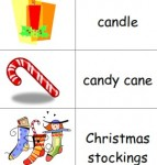 Free printable picture dictionaries for young writers and ESL students including Christmas-theme