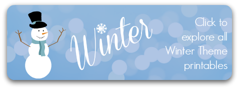 Storytime Standouts Winter Theme Printables for Homeschool, Preschool and Kindergarten