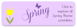 Spring Theme Early Learning Printables