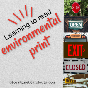 Environmental Print is great for children who are beginning to read