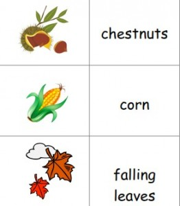 free printable fall picture dictionary image