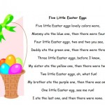 image of Five Little Easter Eggs fingerplay printable