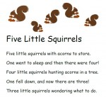 Five Little Squirrels Free Printable from Storytime Standouts