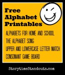 Storytime Standouts Free Printable Alphabets and Games for Learning Letters