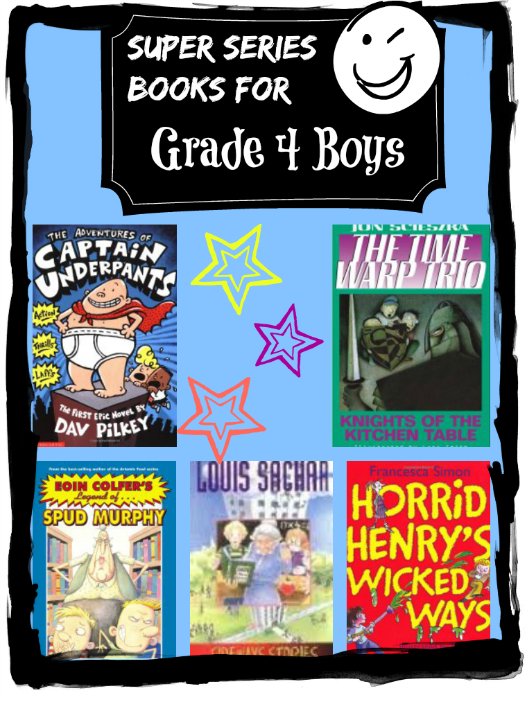 Super Series Books for Grade 4 Boys by StorytimeStandouts.com