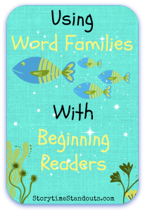 Learning about word families can help young readers as they learn to decode words